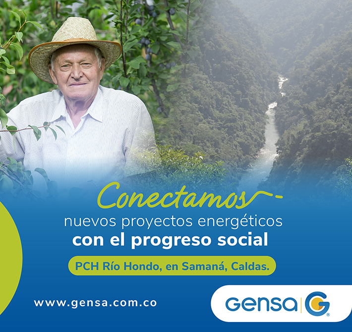 Conectamos nuevos proyectos energéticos. Banner Gensa.